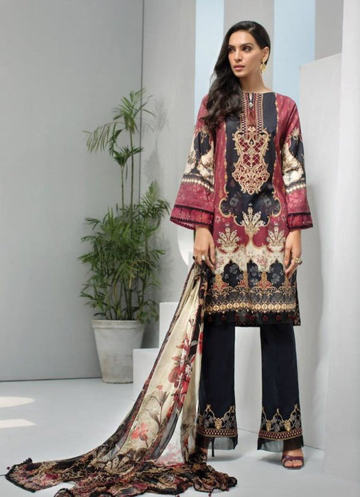 Wishcart-Pakistanisuits-Iris Lawn by Jazmin Vol 2 2019 Collection TURKISH TALE 9