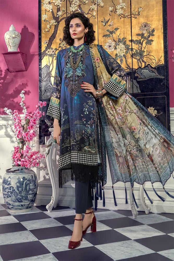 wishcart-Pakistanisuits-MARIAB Mprints Fall Winter 2019 MPT-707-B