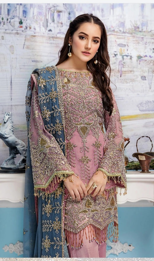 wishcart-Pakistanisuits-Elaf Premium Chiffon Embroidered Collection '19 - EL-403