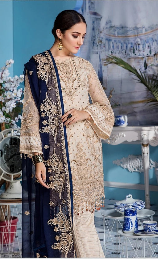 wishcart-Pakistanisuits-Elaf Premium Chiffon Embroidered Collection '19 - EL-406