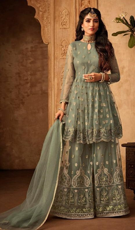 Mohini Glamour Vol 71 Party Wear Net Embroidered Dress - 71006