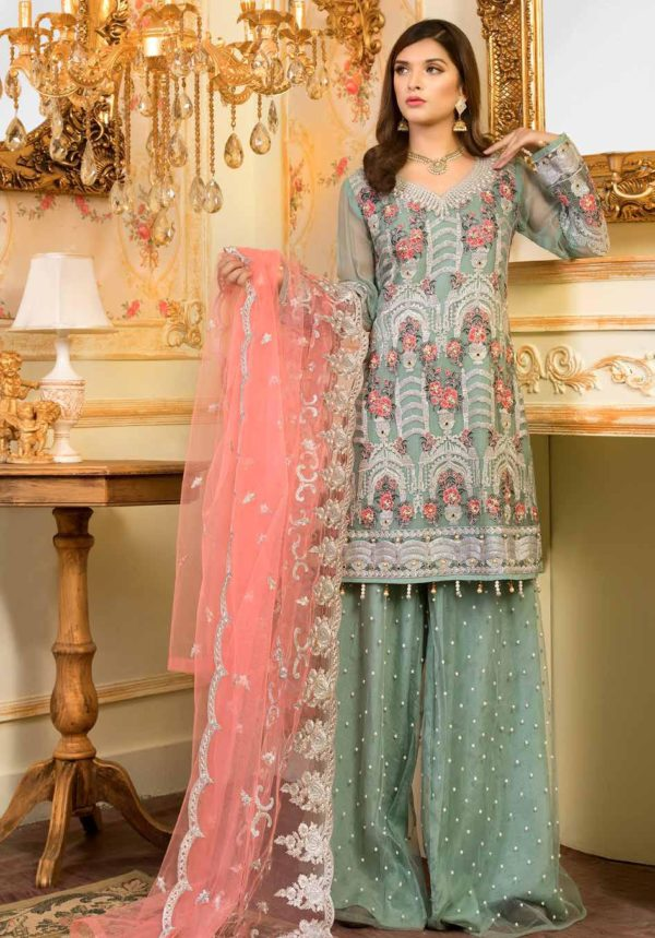 Wishcart-Pakistanisuits-Shamrock Premium Wedding Chiffon 2019 Collection 707