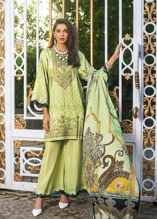 wishcart-Pakistanisuits-Gul Ahmed Luxury Shaleen Digital Satin 2019 Collection DCS14