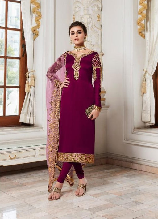 wishcart-Aashirwad Mor Bagh Satin Georgette Collection 7012