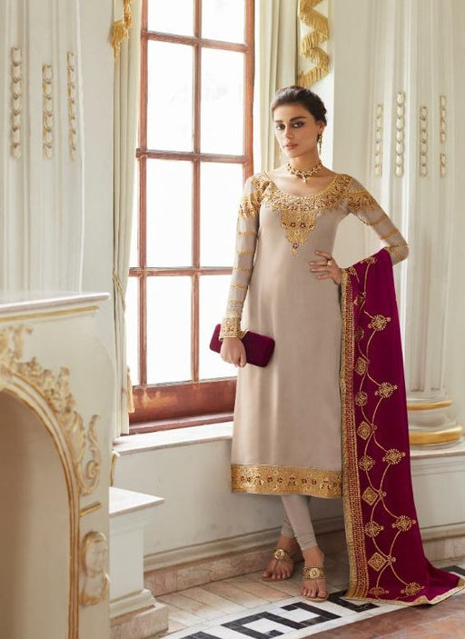 wishcart-Aashirwad Mor Bagh Satin Georgette Collection 7014
