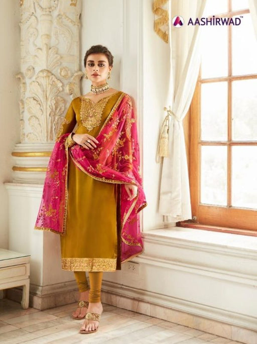 wishcart-Aashirwad Mor Bagh Satin Georgette Collection 7016