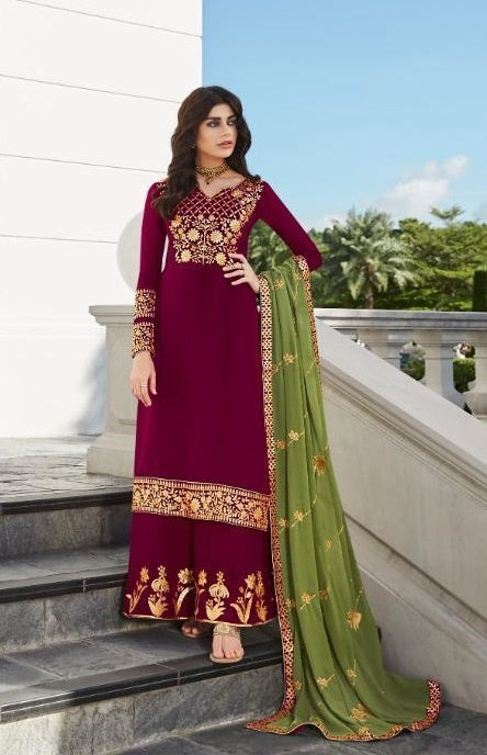 wishcart-Aashirwad Mor Bagh Satin Georgette Collection 7025