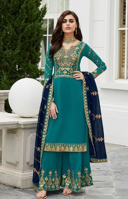 wishcart-Aashirwad Mor Bagh Satin Georgette Collection 7029
