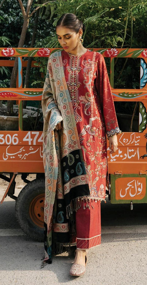 wishcart-Pakistanisuits-Rehab Luxury Shawl Collection 2019 by Qalamkar -Q1WK10-Double Sided Shawl