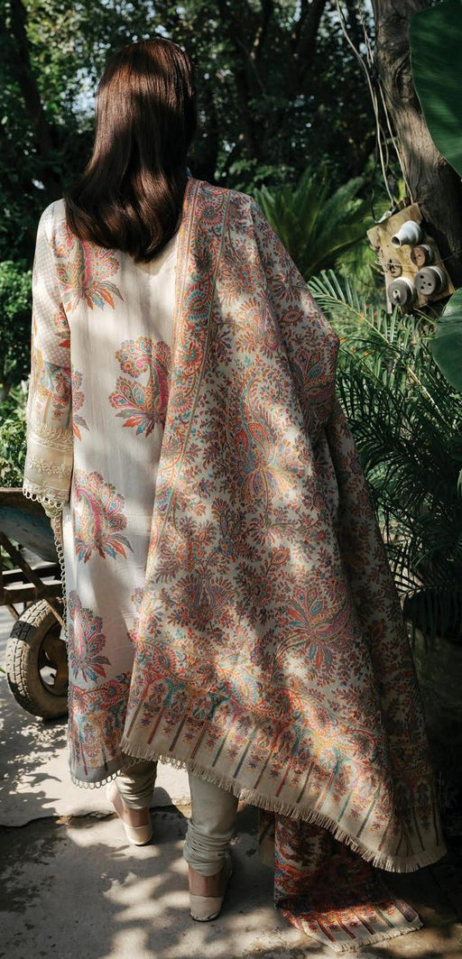 wishcart-Pakistanisuits-Rehab Luxury Shawl Collection 2019 by Qalamkar -QWK08-Paisley