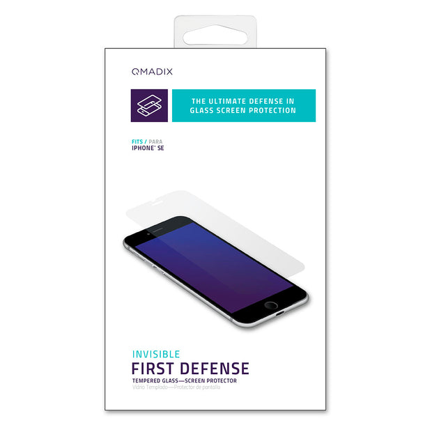 Invisible First-Defense Tempered Glass Screen Protector for iPhone® SE (2020)