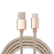 Metal Charging Cable for USB-C; Samsung, Android, Google Pixel