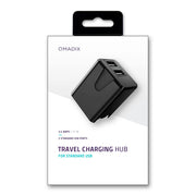 Travel Charging Hub with Dual USB Ports
