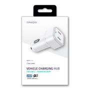 Dual Port Vehicle Charging Hub with Power Delivery
