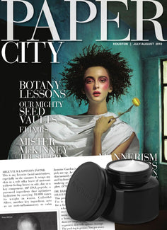Magazine cover for Paper City