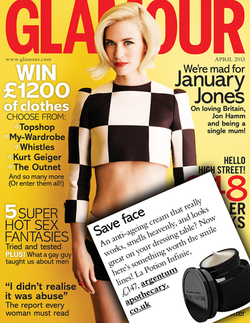 Magazine cover for Glamour