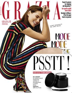 Magazine cover for Grazia