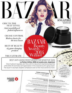 Magazine cover for Harpers Bazaar