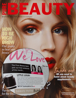 Magazine cover for Pure Beauty