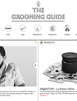 Magazine cover for The Grooming Guide