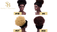 Load image into Gallery viewer, AFRO KINKY PONYTAIL 8'' & 12'' synthetic hair with Two Plastic Combs