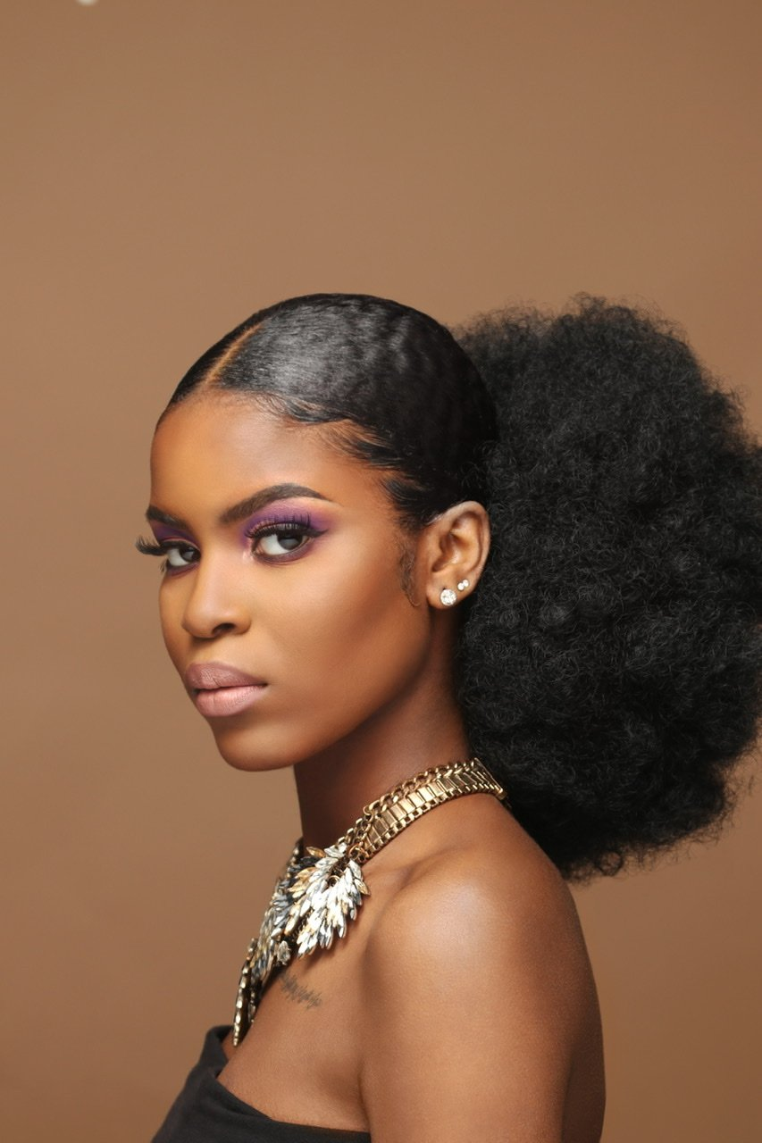 AFRO KINKY PONYTAIL 8'' & 12'' synthetic hair with Two Plastic Combs