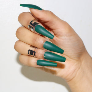 Green Press On Nails