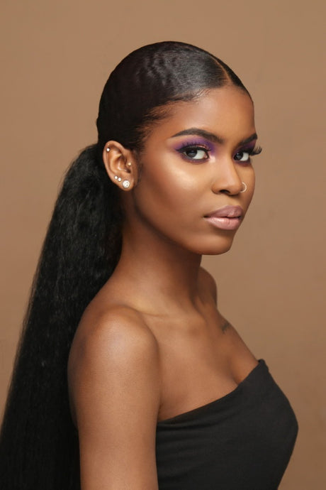 KINKY STRAIGHT PONYTAIL 30'' synthetic Hair With Two Plastic Combs