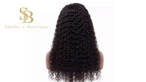 CINDY mongolian Kinky Curly Human Hair Wig With Pre Plucked Hairline
