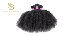 Load image into Gallery viewer, COILY GODDESS Curly Brazilian Virgin Hair Bundles  Natural Color