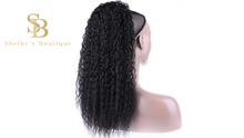 Load image into Gallery viewer, KINKY CURLY PONYTAIL 18'' synthetic hair With Two Plastic Combs
