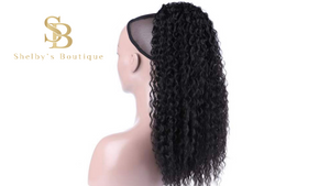 KINKY CURLY PONYTAIL 18'' synthetic hair With Two Plastic Combs