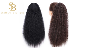 KINKY WAVY PONYTAIL 22'' Synthetic Hair With Two Plastic Combs