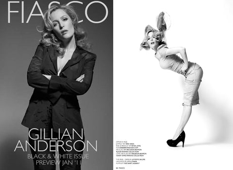 Gillian Anderson in Fiasco Magazine