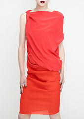 twist shoulder top in coral by la petite s  la petite s*****