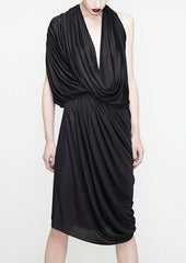 La petite S draped dress in fluid jersey la petite s*****