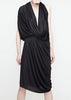 La petite S draped dress in fluid jersey
