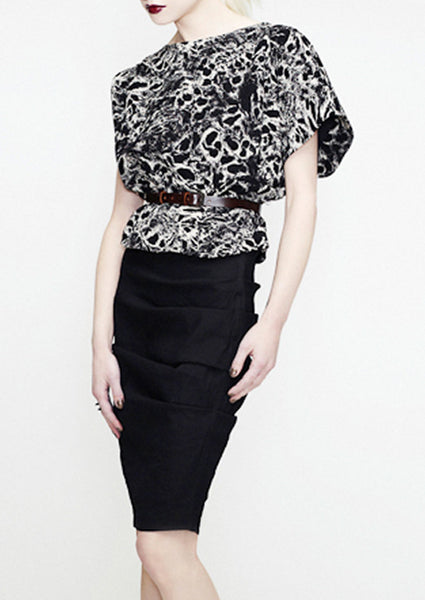 La Petite S animal print top