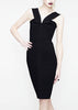 black la petite s dress with V-Strap