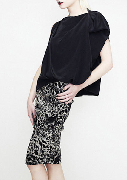 Black and white animal print skirt by la petite s