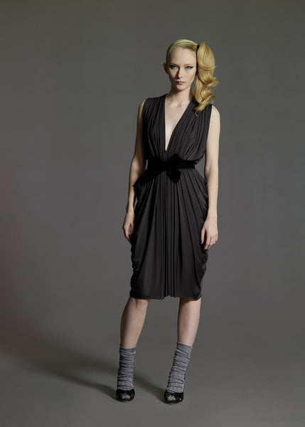 La Petite S***** Pleated jersey dress AW08