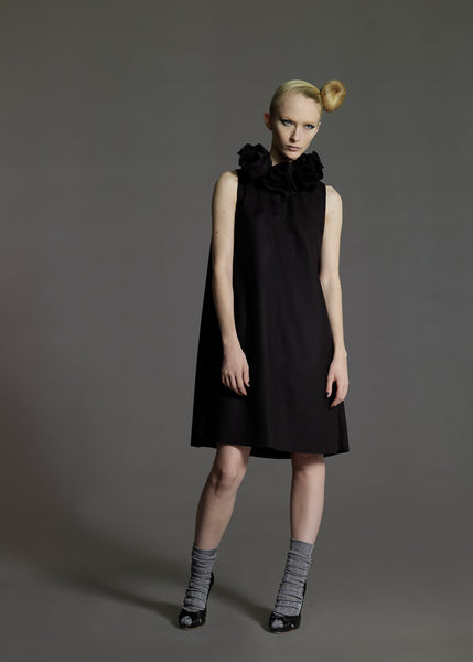 La Petite S***** shift dress with flower collar AW08