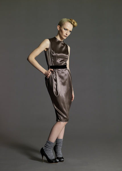 La Petite S***** gunmetal satin dress Autumn Winter 08
