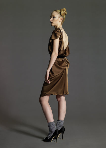 La Petite S***** Satin draped dress AW08