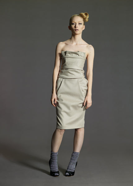 La Petite S***** off white wool dress AW08