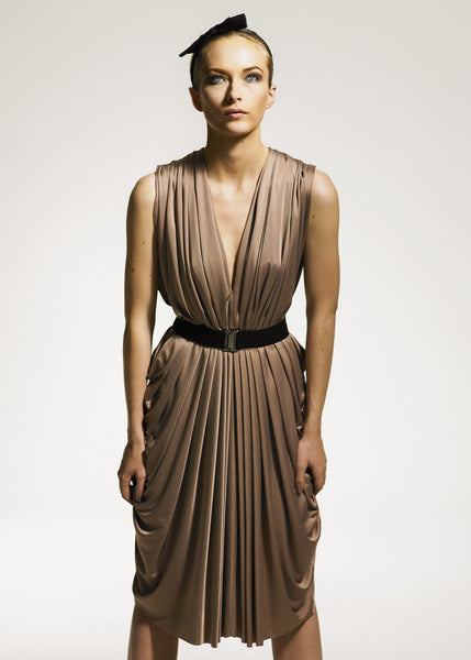 La Petite S***** Nude pleated dress SS08