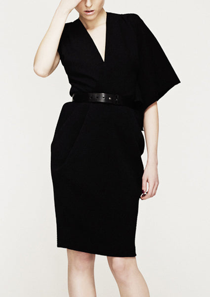 black la petite s asymmetric dress