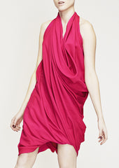 draped dress in fuschia by la petite s la petite s*****