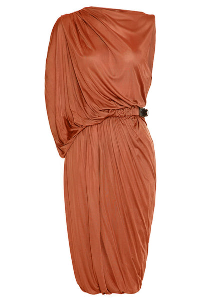 La Petite S jersey draped dress with belt