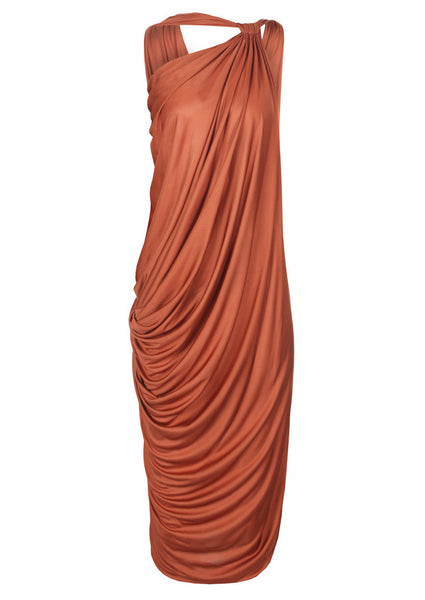 La Petite S Draped asymmetric jersey dress